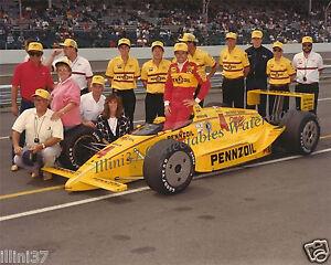RICK MEARS 1989 INDY 500 AUTO RACING 8X10 PHOTO