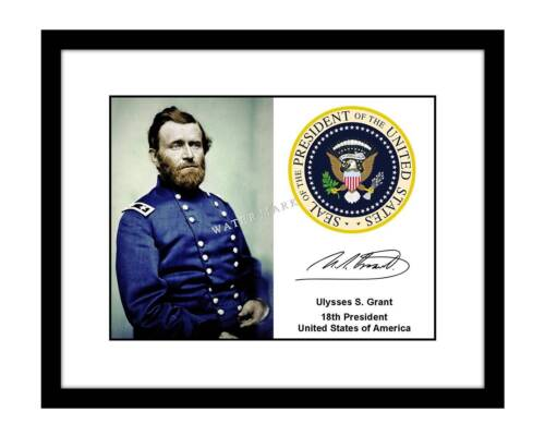 Ulysses S. Grant 8x10 Photo Print President Seal Autographed Signed Civil War