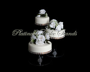 4 tier cascading wedding cake stand stands set 3 tier cake stand ebay 10371