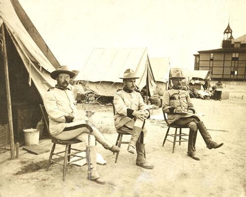 1898 SPANISH AMERICAN WAR-Theodore Roosevelt-Leonard Wood-Alexander Brodie-PHOTO