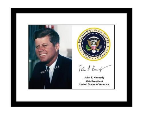 John F. Kennedy 8x10 Signed Photo Print Presidential Seal Autograph Portrait JFK