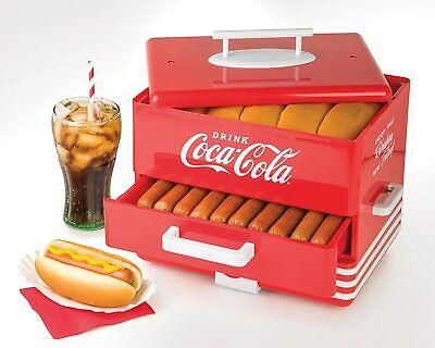 Extra Large Hot Dog Steamer Warmer Cooker Machine Bun Food Sausages Electric