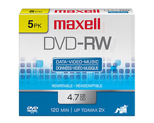 Blank DVD-RW4.7gb 2X Rewritable -RW Discs in Slim Case in a 50 Lot (C7-2141M1)