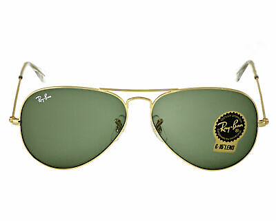 Ray Ban Aviator Classic RB3025 Sunglasses L0205 Green 58mm Lens