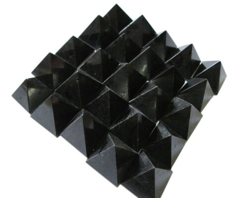 Lot of 50 Black Tourmaline Pyramids Feng Shui Bagua Reiki Gift Crystal