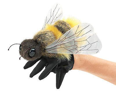 Honey Bee Hand Puppet w/ Glove for Leg Movement, Folkmanis MPN 3028, 3 & Up