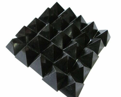 Lot of 100 Black Tourmaline Pyramids Feng Shui Bagua Reiki Gift Crystal