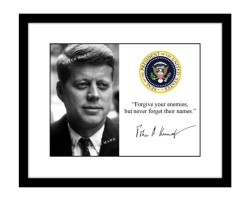 John F Kennedy 8x10 Signed Photo Print Quote President JFK autographed Jack