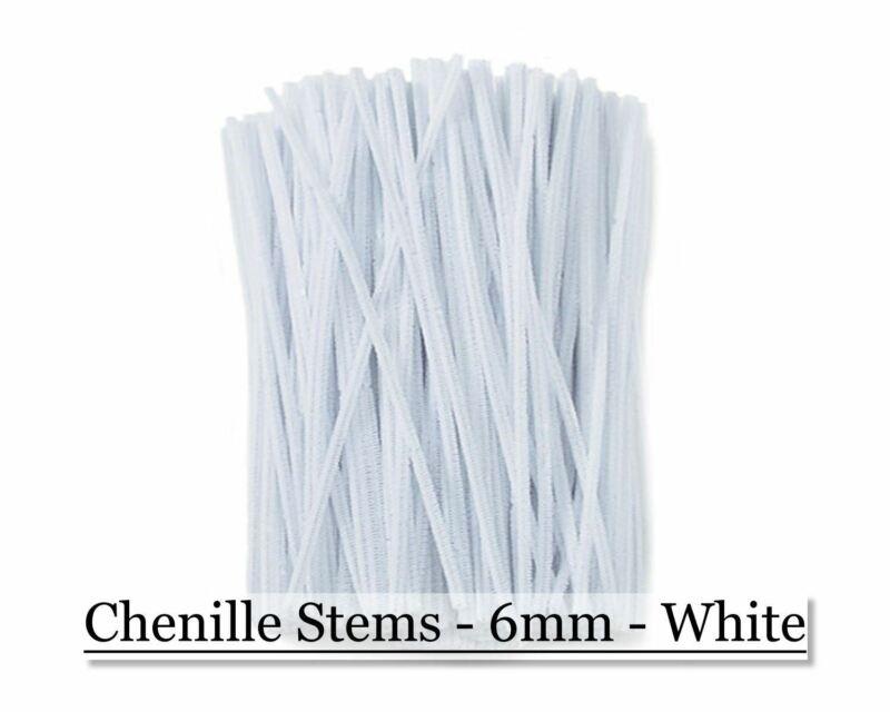 Chenille Stems - 6mm - White