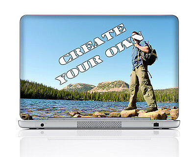 Laptop Skin Sticker Decal w. Customized Image For Macbook Dell Asus Acer HP More