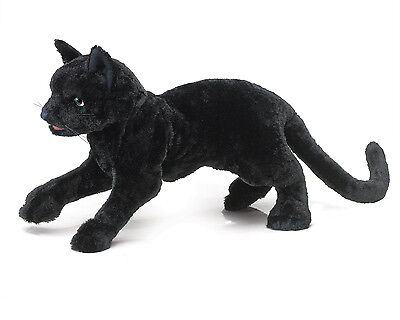 Black Cat Hand Puppet with Moveable Mouth, Folkmanis MPN 2987, 3 & Up, Unisex