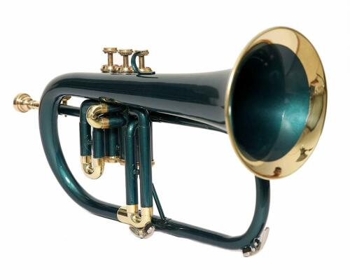 % OFF Flugel Horn Bb Pitch With Free Hard Case And Mouthpiece, Green