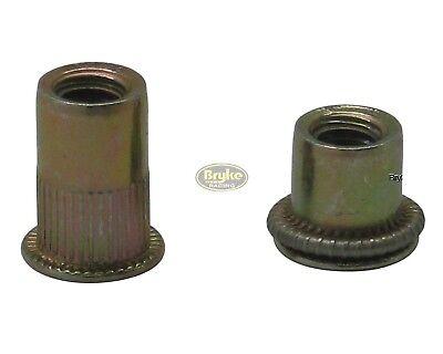 Threaded Insert Rivet Nuts 516-18 Long Fasteners 10 Pack Fastener Steel Racing