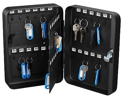 Adiroffice 48 Keys Solid Steel Safe W Tags Storage Key Cabinet Box