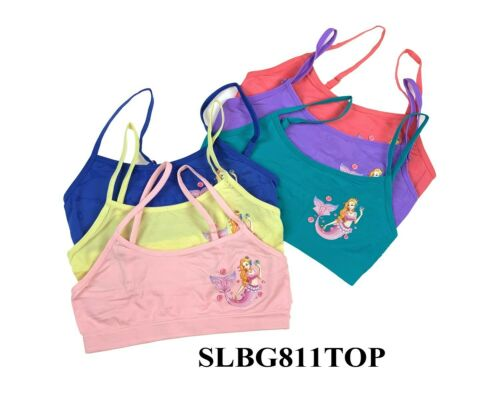 6 Sets Girl Seamless Spaghetti Strap Top Bras Training Bras Mixed Color S M L