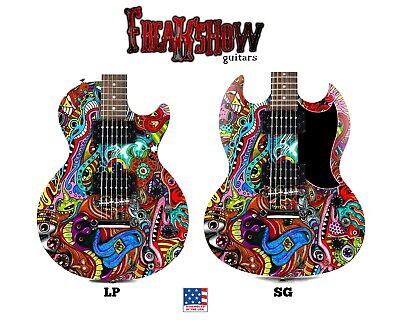 PSYCHEDELIC FRIENDS Electric Guitar - Free US Shipping - Freakshow Guitars