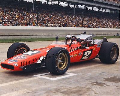 Mario Andretti 1969 Indy 500 Winner Auto Racing 8X10 Photo