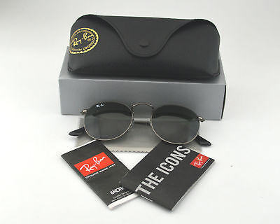 Ray Ban RB3447 Round Metal 029 Gunmetal Frame/ Green Classic G-15 Lens (Ray Ban Rb3447 Round Metal Polarized)