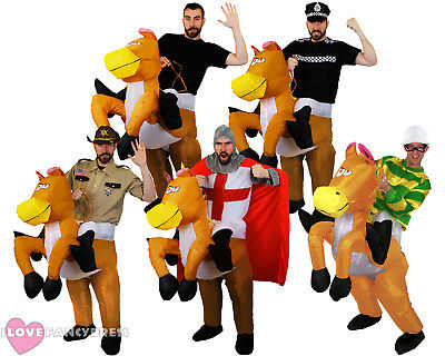 INFLATABLE HORSE COSTUME RIDING RIDE ON SUIT STAG FANCY DRESS FUNNY - Ride On Horse Costume
