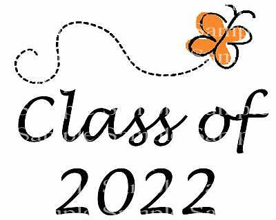 Butterfly Cupcake Toppers (Class of 2022 Butterfly ~ Edible 2D Fondant Cake Cupcake Topper ~ D24279)