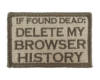 If Found Dead Delete My Browser History Hook   Loop Morale Tags Patch Sub