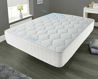 Memory Foam Luxury Matress Sprung Mattress 3ft Single 4ft6 Double 5ft King bed
