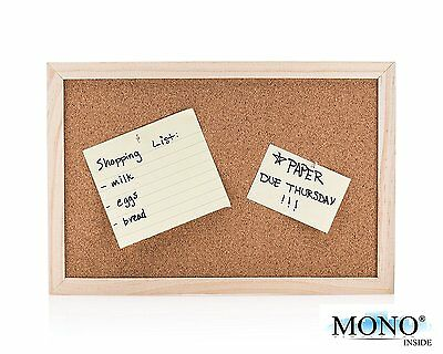 Small Wood Framed Cork Bulletin Board Message Menu Memory Note Memo Place 12x8in