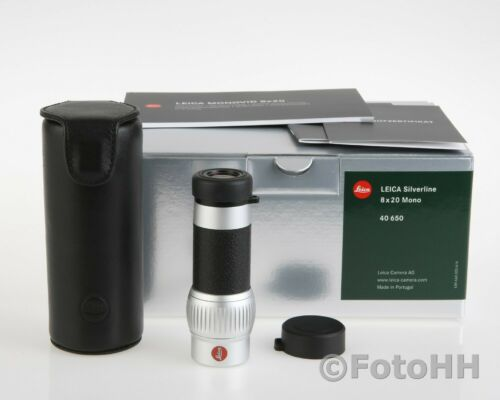 NEW LEICA MONOVID 8 x 20 MONOCULAR WITH LEATHER CASE INCL. /LEICA NUMBER : 40650