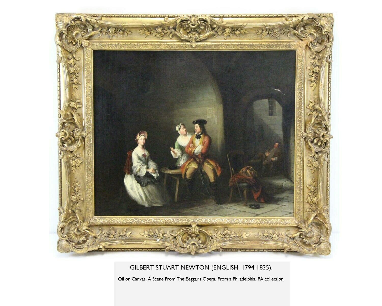 Gilbert Stuart Newton, A Scene From The Beggar s Opera Painting - $3,000.00