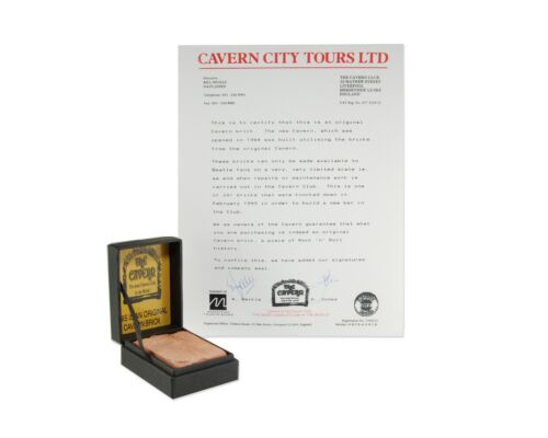 Beatles Memorabilia - The Cavern Club Brick in Collectible Box w/ Certificate!