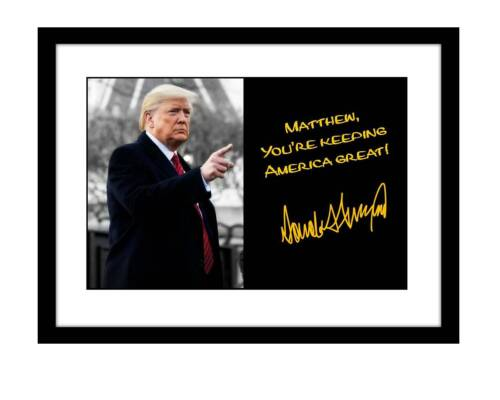 Donald Trump 5x7 Signed Photo personalized to YOUR NAME 2020 maga autographed