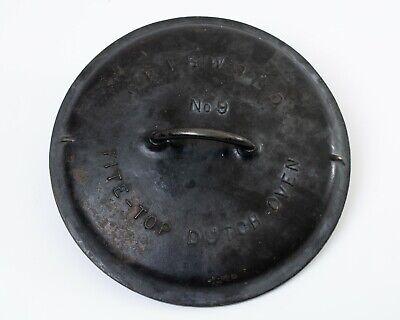 """Vintage Griswold No 9 Cast Iron Tite-top Dutch Oven Lid *Only* #2552 Rim 10.5"""""""