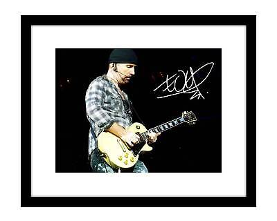 The Edge 8x10 Signed Photo Print U2 Concert Picture Rock Band Music Autographed
