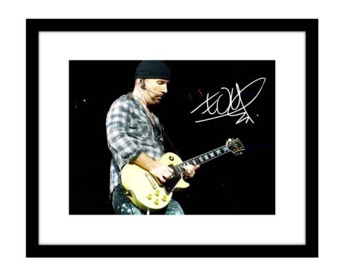 The Edge 8x10 Signed Photo U2 Concert Picture Rock Band Music Autographed Song