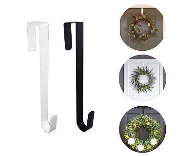 Black White Metal Over the Door Hook Wreath Door Hanger Orga