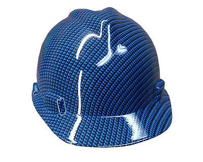 Hydrographic Blue Carbon Fiber Msa V-guard Cap Hard Hat