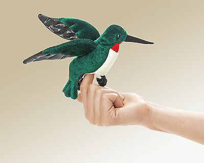 New Hummingbird Finger Puppet Gift Toy Bird by Folkmanis Puppets Animal Plush