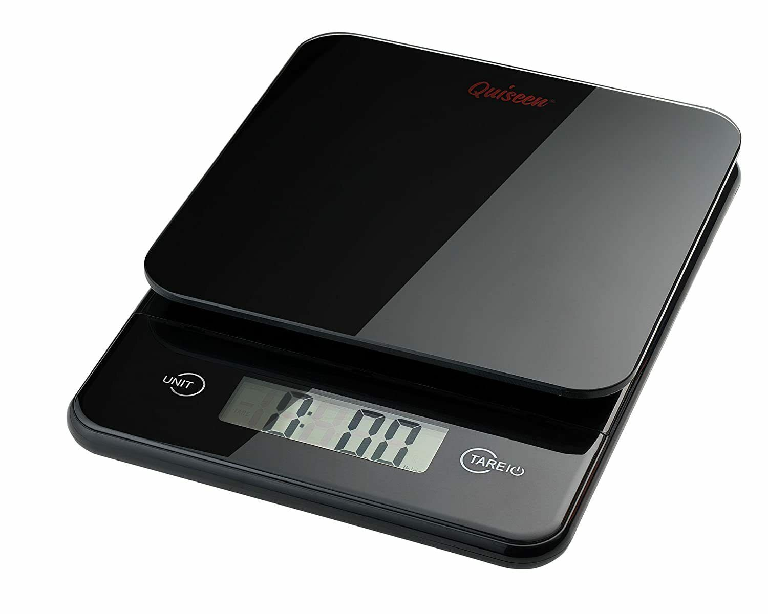 Compact Digital Kitchen Food Scale 11Lbs 5Kg Capacity Black