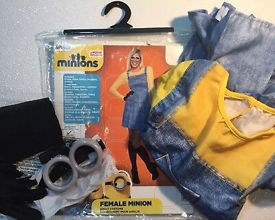 NEW MINIONS KEVIN Womens Halloween Costume Small 2 4 6 Goggles Suit Dress Set S