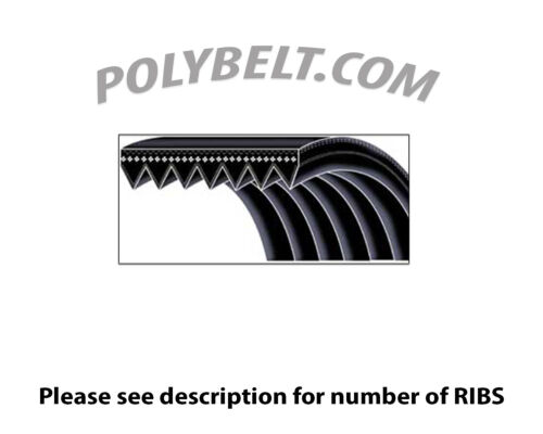 180-J-8 NEW POLY V MICRO-V V-BELT Rubber 180J8 with 8 Ribs