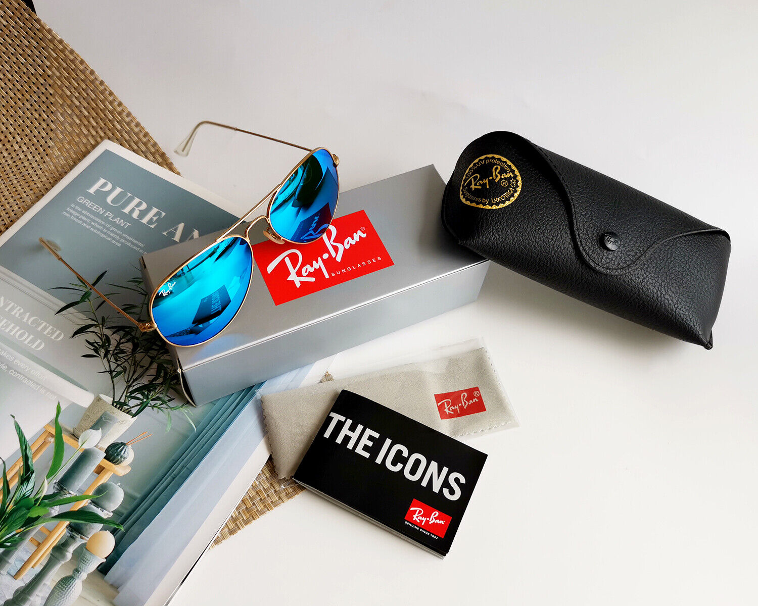 RAY BAN RB3025-112/17 Original Aviator 55MM Mirror