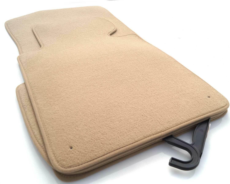 Velours beige Fußmatten passend für BMW X5 E70 ab´06