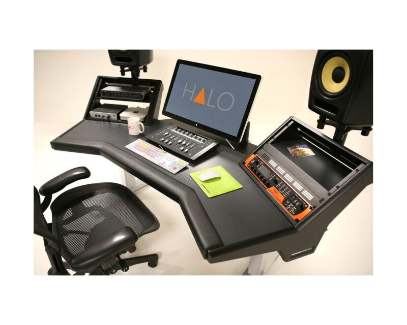 Argosy Halo Ultimate Workstation Desk | Halo-xc-h-b-s | Pro Audio La | In Stock