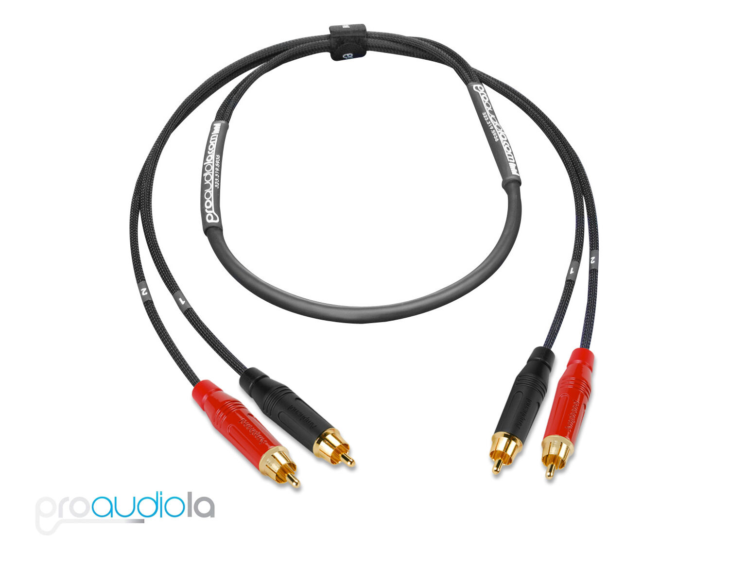 Premium 2 Channel Mogami 2930 SnakeBlack /& Red Amphenol RCA to RCA40 ft.
