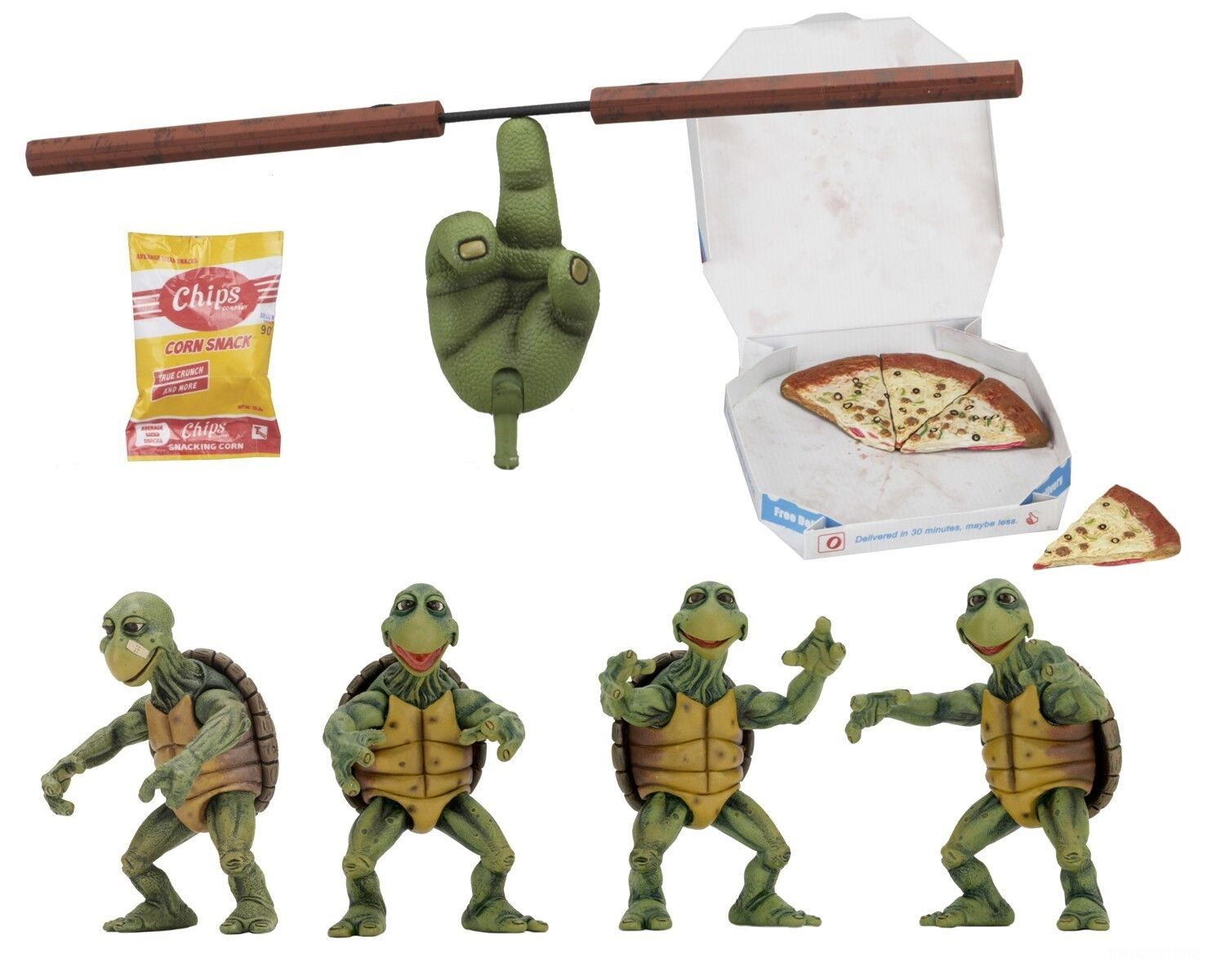 Teenage Mutant Ninja Turtles 1/4 Scale Action Figures – Baby Turtles Set - NECA