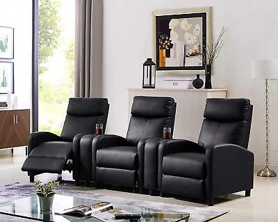 - Leisure Recliner Sofa Chair Padded Lounge Living Room Sofa Home Theater Seating