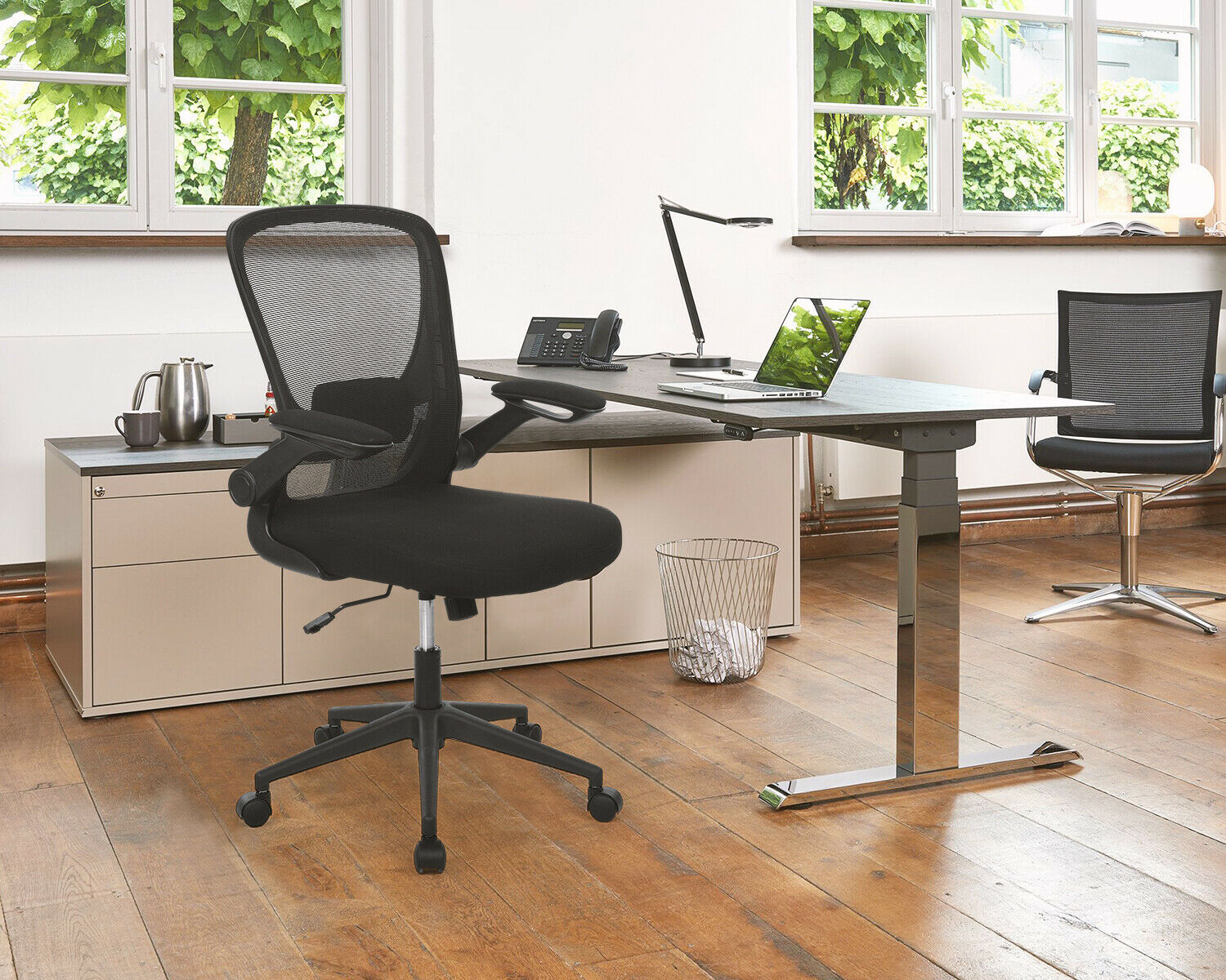 Office Chair Desk Chair Computer Chair with Lumbar Support Flip-up Arms Swivel Business & Industrial