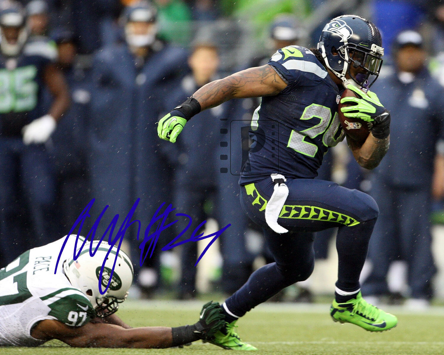 Marshawn lynch signed photo E-mails from an Asshole