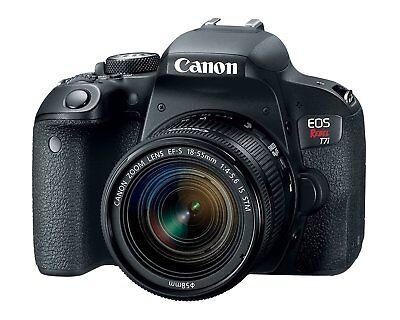 Canon EOS Rebel T7i DSLR Camera kit w/ EF-S 18-55mm STM Lens Open Box Demo