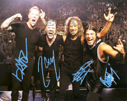 Metallica HOF Rock Band. Autographed signed 8x10 Photo Reprint